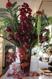 Velvet orchid vase