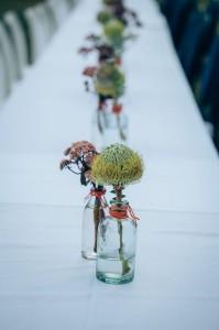 Louise & Wayne, table flowers