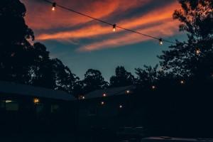 Louise & Wayne, sunset sky